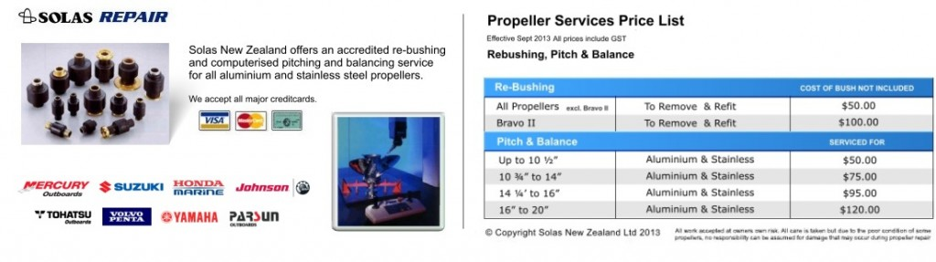 PROPELLER REPAIRS REBUSHING NZ